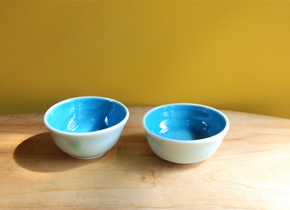 pair of dipping bowls - turquoise