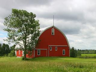 """מדוע האיכרים ברחבי ארה""""ב צובעים את האסמים שלהם בצבע אדום"""