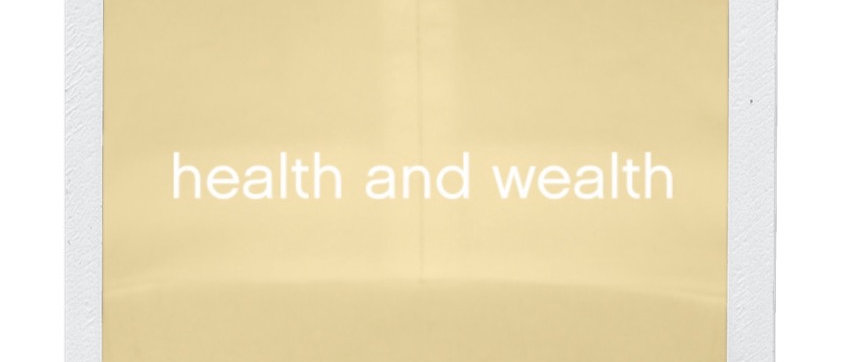 Health & Wealth hat-yellow