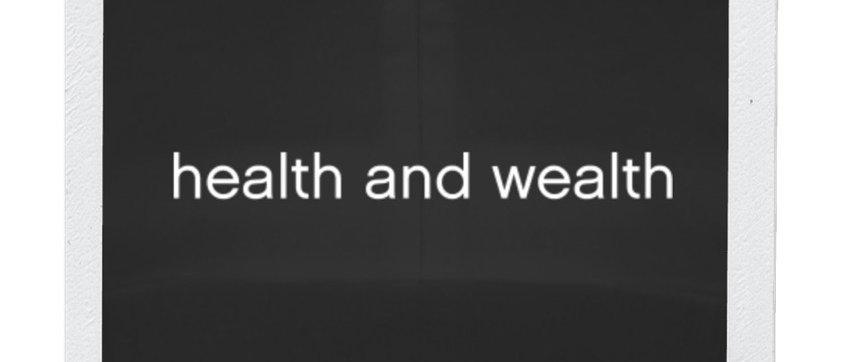 Health & Wealth hat- black