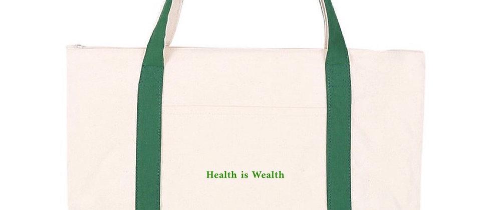 Tote bag-Health is Wealth