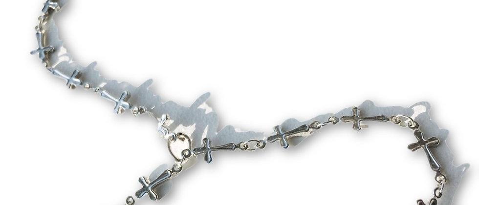 Cross Hand Chain-Silver