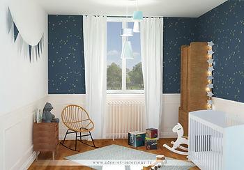 Projet Chambre Bébé Garçon Ambiance Bleue dans les Etoiles