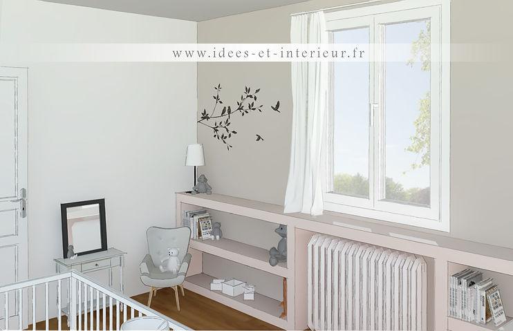 Projet Chambre Fille Rose Poudré