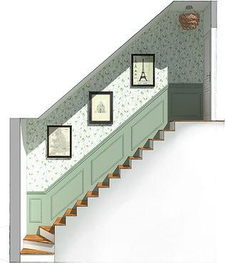 Après - Home Staging Virtuel Escalier