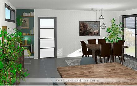 Projet Salon Vert Anglais et Laiton