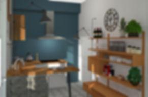 Après - Home Staging Virtuel Cuisine
