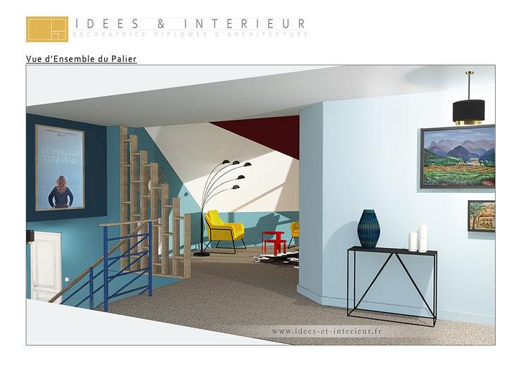 Projet Palier en Dégradé de Bleus