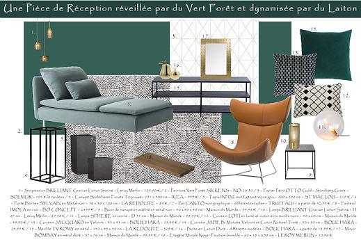 Planche Shopping Salon Vert Anglais