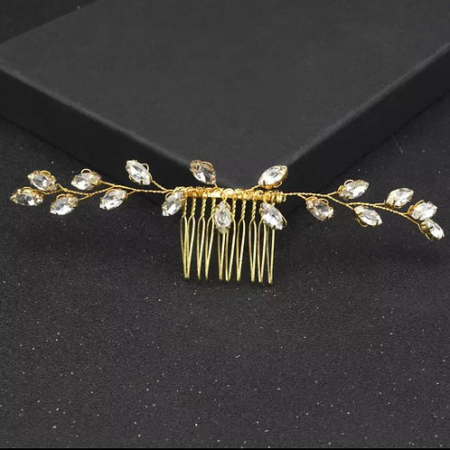 Gold stained Bridal Headcomb