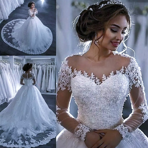 Beautiful Lace Ballroom Wedding Dress