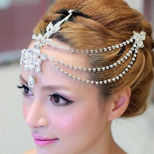 Crystal forehead headband tiara