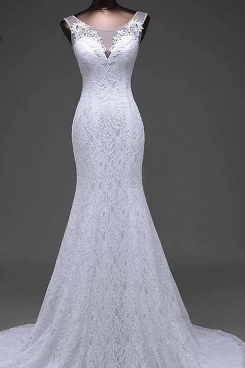 Fitted mermaid Wedding Dresses