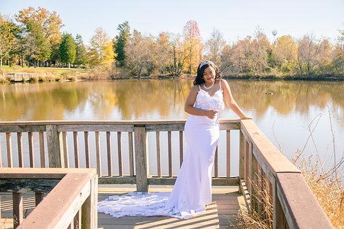 Elegant Sleeveless Wedding Dress