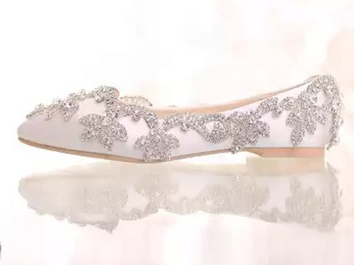 Crytal studded Wedding Flats