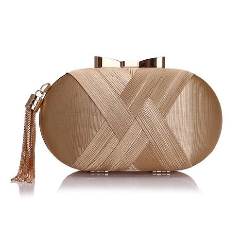 Bow Metal Women Day Clutches Tassel Luxurious F