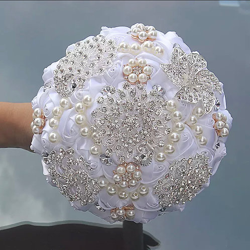 Beaded Crystal Bridals Bouquets