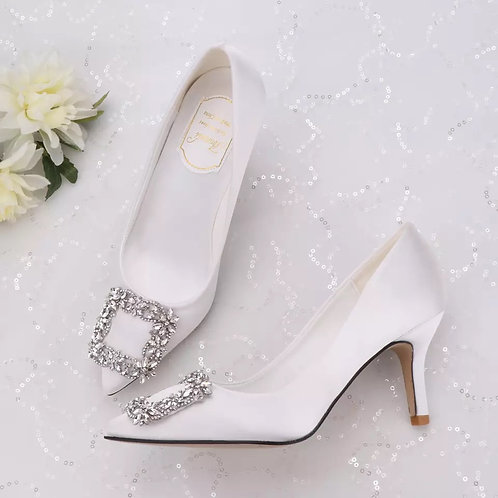 White Pointed Wedding Shoes