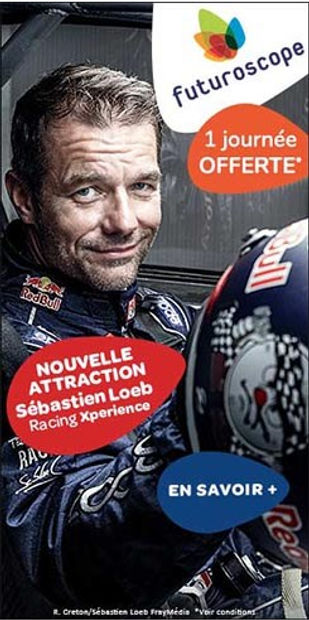 Publicité Bannière Sebastien Loeb Futuroscope