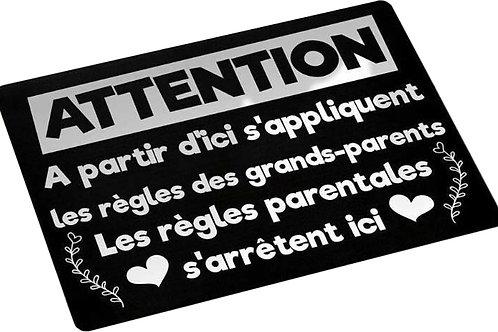 Paillasson - Les règles des grands-parents