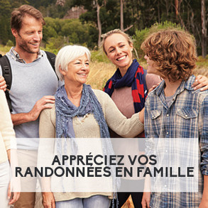 Appréciez vos randonnées en famille