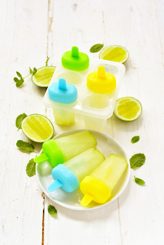 Glaces à l'eau au citron vert