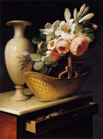 StillLife with a Basket of Flowers