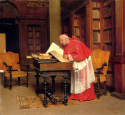 A Cardinal In His Study