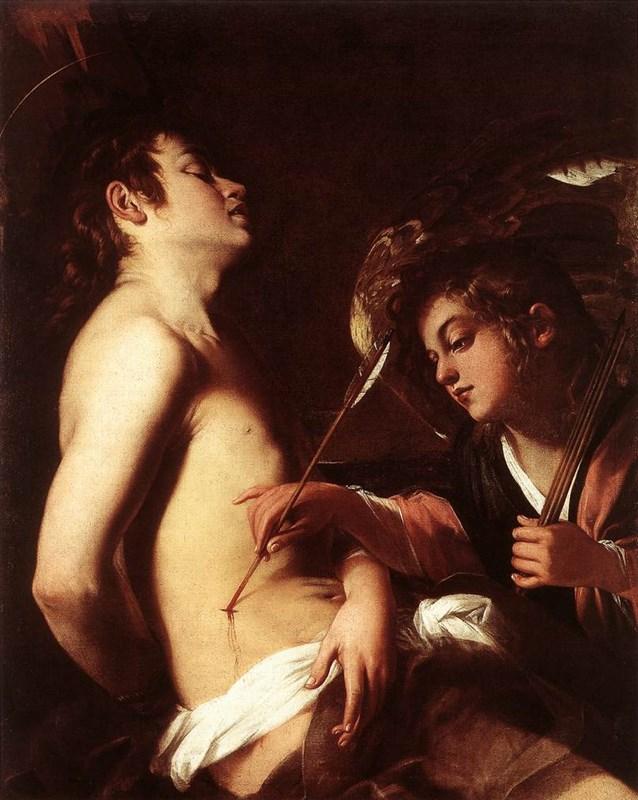 St Sebastian Healed by an Angel
