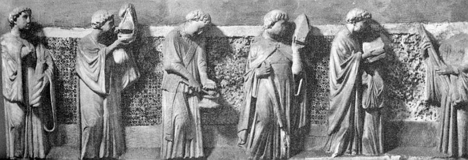 Frieze of Mourning Acolytes