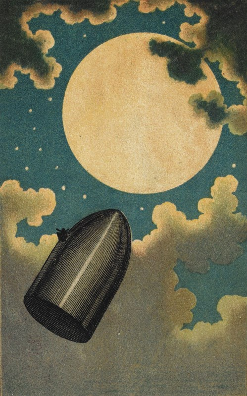 The Projectile Passing the Moon from