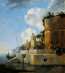 A Waterside Ruin in Italy