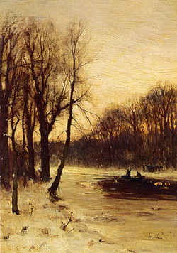 Figures In A Winter Landscape At Dus