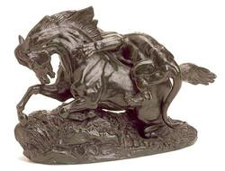 Cheval attaqué par un tigre  Horse a