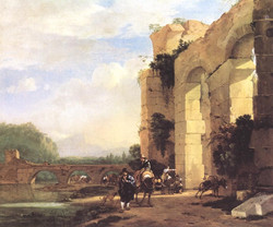Italian Landscape with the Ruins of
