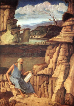 St. Jerome Reading in the Countrysid