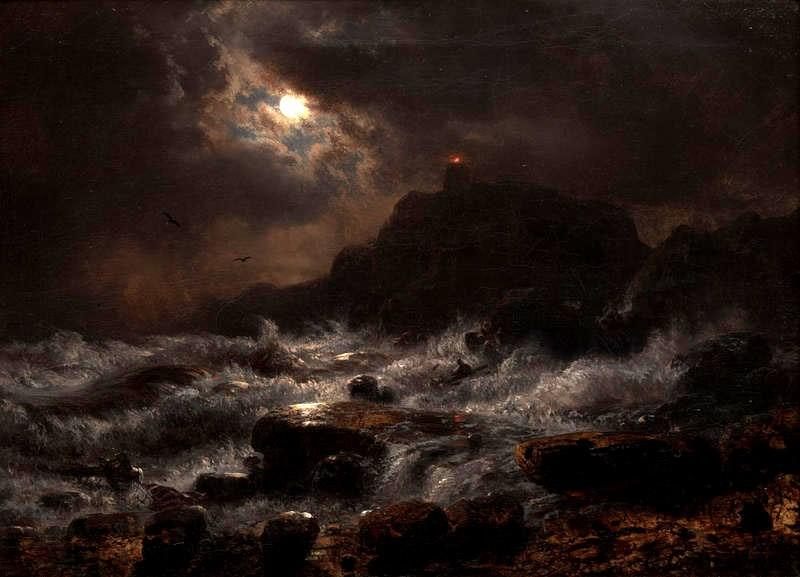 Norwegian Coast by Moonlight