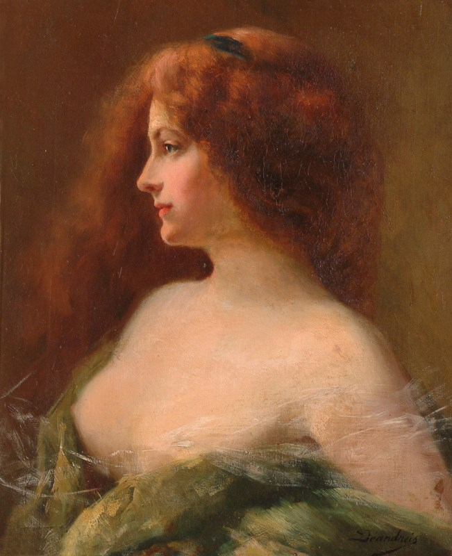Portrait of a Brunette Woman