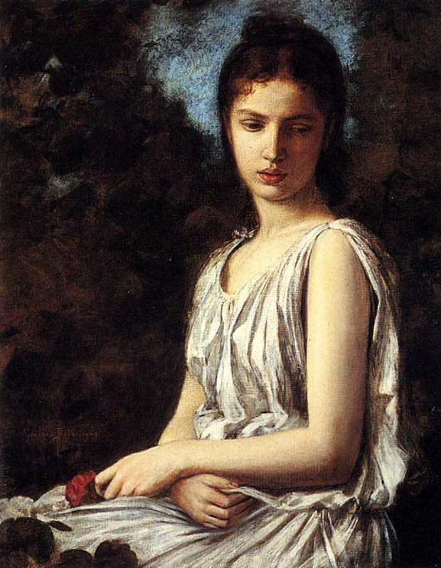 A Young Woman In Classical Dress Hol