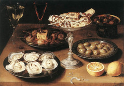 StillLife with Oysters and Pastries
