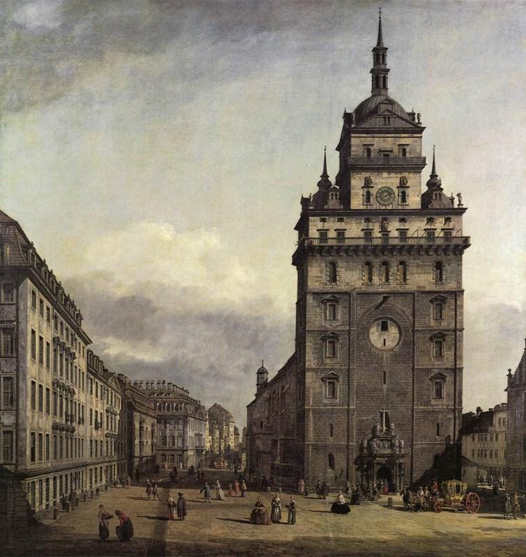 The Kreuzkirche in Dresden 1747-1756