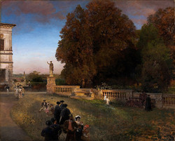 In the Park of the Villa Borghese