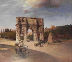 Triumphal Arch in Rome 1886
