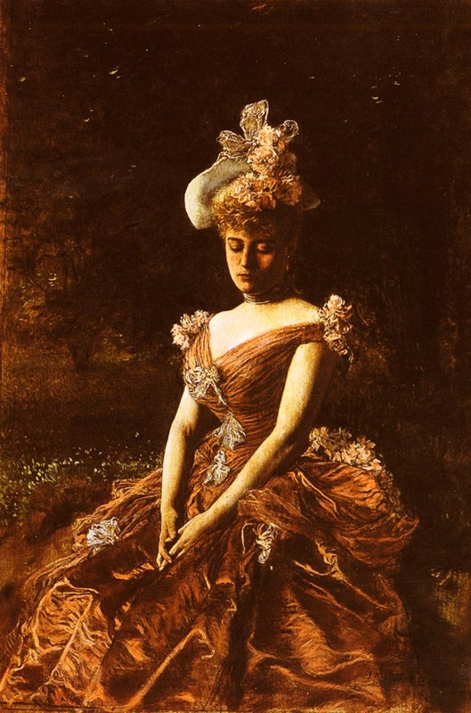 Portrait of a Lady in a Pink Dress,
