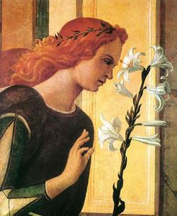 Angel Announcing [detail] circa 1500