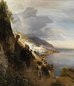 The Amalfi Coast with the Stairs to