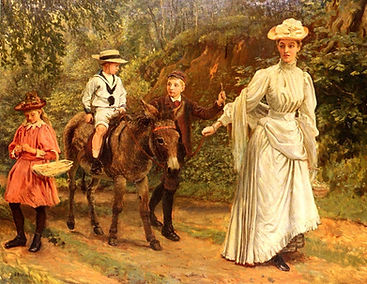 a_donkey_ride_along_a_woodland_path-larg