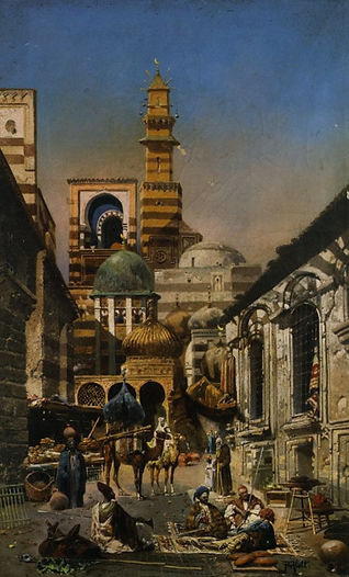 Alott_Robert_Old_Cairo_Oil_on_Canvas-hug