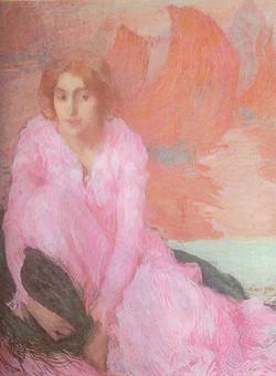 Dame en Rose Lady in Pink