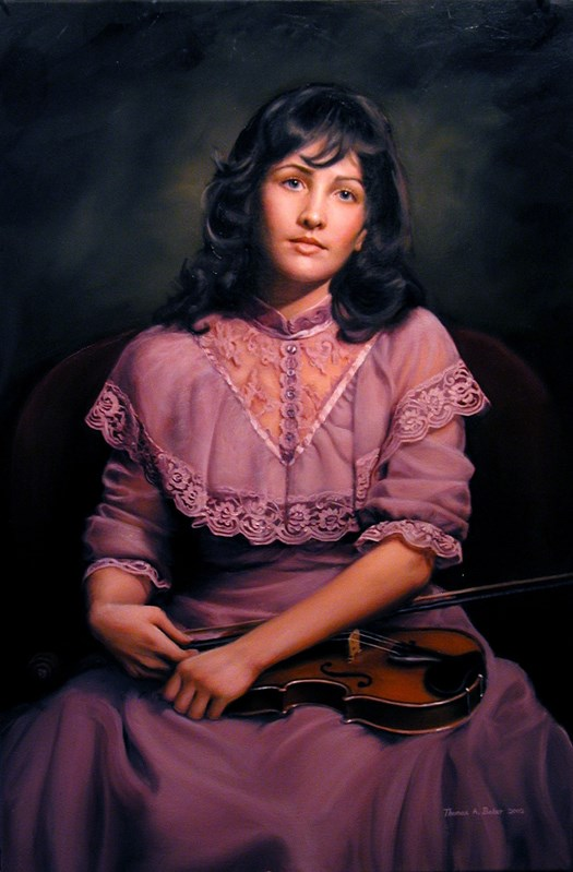 Kathleen with a Violin